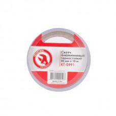 Скотч алюминиевый термостойкий 50мм*10м INTERTOOL KT-0991