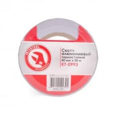 Скотч алюминиевый термостойкий 50мм*50м INTERTOOL KT-0993
