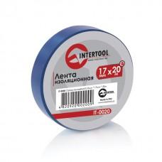 Лента изоляционная 0,15 мм x 17 мм x 20 м синяя (упак 10 шт) INTERTOOL IT-0020