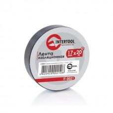 Лента изоляционная 0,15 мм x 17 мм x 25 м черная (упак 10 шт) INTERTOOL IT-0026