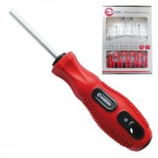 Набор отверток 6 ед. (SL3x75, SL5x100, SL6x125, PH0x75, PH1x100, PH2x125) Cr-V, Ergo-design INTERTOOL VT-2005