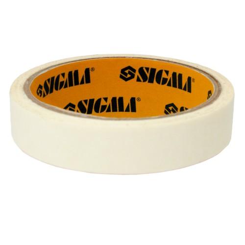 Лента малярная 19мм,40м белая SIGMA, 8402021