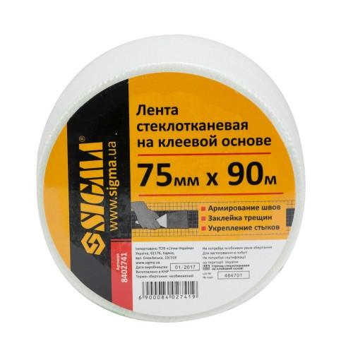 Лента стеклотканевая на клеевой основе 75ммх90мм Sigma (8402741)