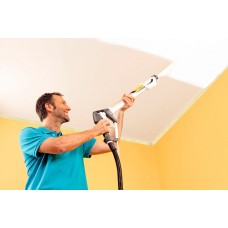 Как распылить краску на потолок