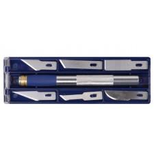 Набор ножей моделярских 6шт +держатель
