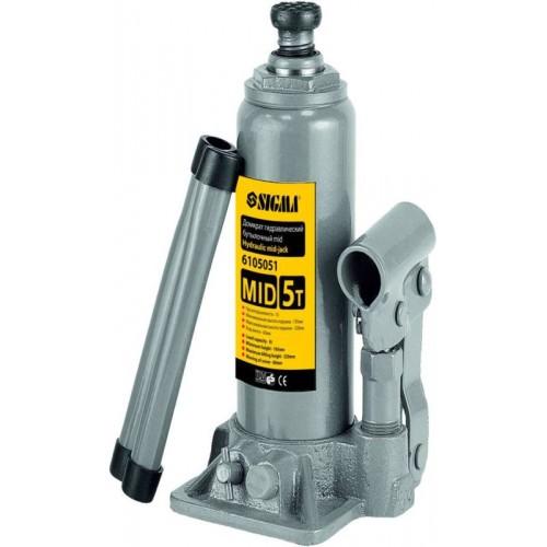 Домкрат гидравлический бутылочный mid 5тонн, 6105051, Домкраты и оборудование