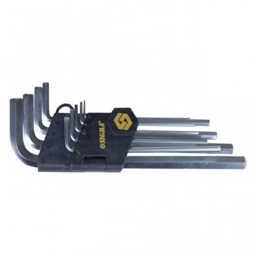 Ключи шестигранные 9шт 1,5-10мм CrV (средние)