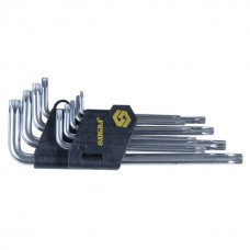 Ключи torx 9шт T10-T50мм CrV (короткие с отвер)