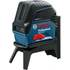 Лазерный нивелир (уровень) с функцией отвеса в комплекте со штативом RM1 + кейс Bosch GCL 2-15 Professional  (0601066E02)