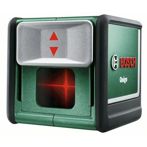 Лазерный нивелир в комплекте с держателем MM2 и в железной коробке Bosch Quigo III  (0603663521)