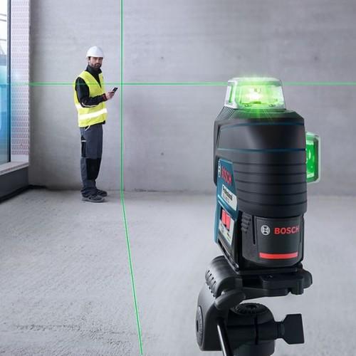 Лазерный нивелир GLL 3-80 CG + BM 1 (12 V) + L-Boxx /Зеленый луч/ (0601063T00)