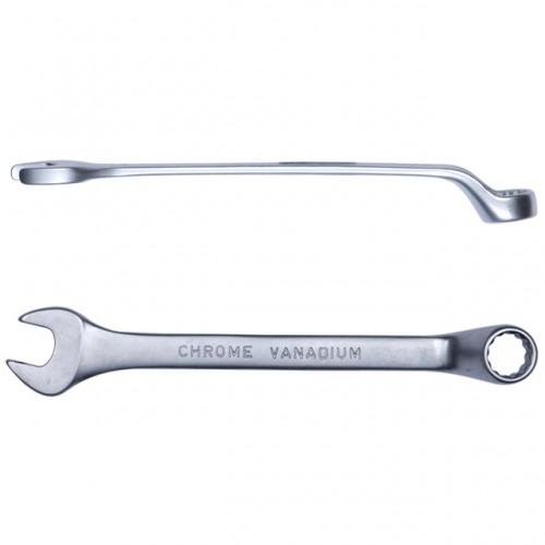 ключ рожково-накидной глубокий 12мм CrV satine, 6024121, Рожково-накидные