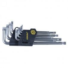 Ключи torx 9шт T10-T50мм CrV (длинные с отвер)