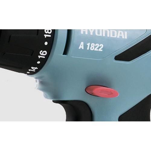 Шуруповерт аккумуляторный NI-CD 18В 2 Скорости 2 Батареи 350-1100 Об/Мин Реверс Hyundai A 1822