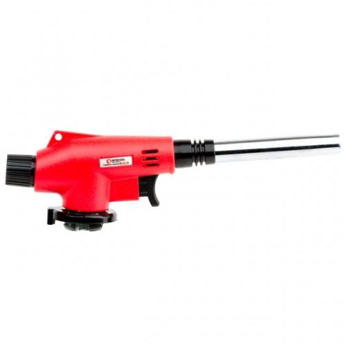 Горелка газовая, пьезозажигание на курке, регулятор, удлиненное сопло INTERTOOL GB-0022 , GB-0022