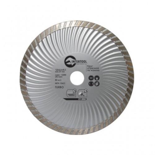 Диск отрезной Turbo, алмазный 230 мм, 16-18% INTERTOOL CT-2005, CT-2005, Диски отрезные с алмазной крошкой для УШМ