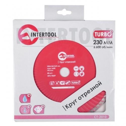 Диск отрезной Turbo, алмазный 230 мм, 22-24% INTERTOOL CT-2010, CT-2010, Диски отрезные с алмазной крошкой для УШМ
