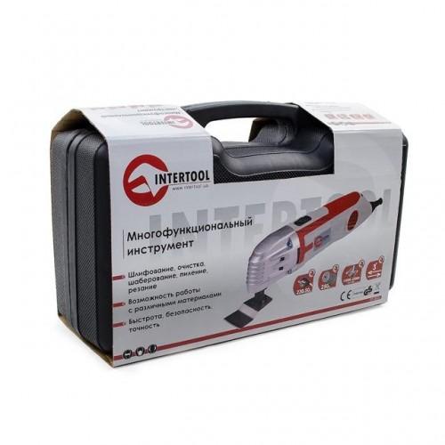 Многофункциональный инструмент (реноватор), 250 Вт., 15000-22000 ход/мин INTERTOOL DT-0525, DT-0525, Инструмент многофункциональный (реноватор)
