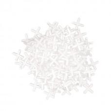 Набор дистанционных крестиков для плитки 4 мм / 100 шт INTERTOOL HT-0354
