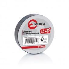 Лента изоляционная 0,15 мм x 17 мм x 20 м черная (упак 10 шт) INTERTOOL IT-0021