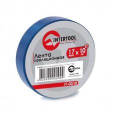 Лента изоляционная 0,15 мм x 17 мм x 25 м синяя (упак 10 шт) INTERTOOL IT-0025