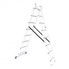 Лестница алюминиевая 2-х секционная универсальная раскладная 2x8 ступ. 3,69 м INTERTOOL LT-0208