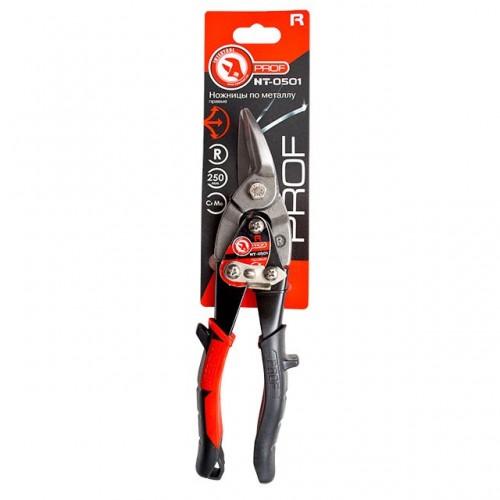 Ножницы по металлу 250 мм правые Cr-Mo INTERTOOL NT-0501, NT-0501, Ножницы по металлу