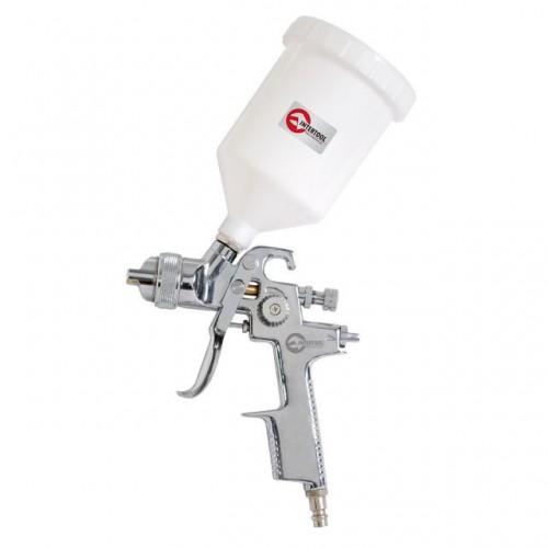 HVLP STEEL PROF Краскораспылитель 1,4 мм, верхний пластиковый бачок 600 мл. INTERTOOL PT-0103, PT-0103, Краскопульты пневматические HVLP
