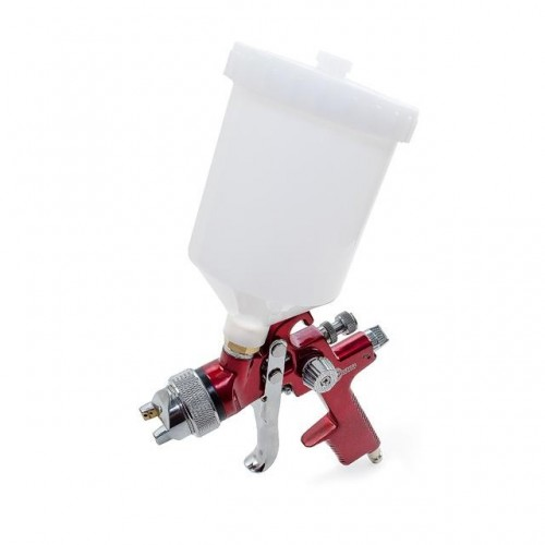 HVLP RED PROF Краскораспылитель 1,4 мм, верхний пластиковый бачок 600 мл INTERTOOL PT-0104, PT-0104, Краскопульты пневматические HVLP