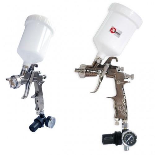 LVLP PROF краскораспылитель 1,3 мм, с редуктором, пласт. в/бачок 600 мл., 2 атм INTERTOOL PT-0130, PT-0130, Краскопульты пневматические LVLP