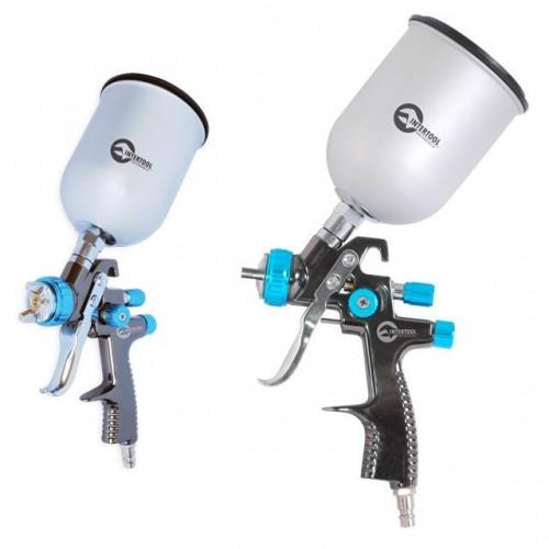 LVLP BLUE NEW Профессиональный краскораспылитель 1,4 мм, верхний металлический бачок 600 мл., mах 1,5 атм INTERTOOL PT-0133, PT-0133, Краскопульты пневматические LVLP