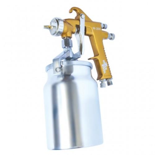 HP BRONZE PROF Краскораспылитель 1,5 мм, нижний металлический бачок 1000 мл. INTERTOOL PT-0221, PT-0221, Краскопульты пневматические HP