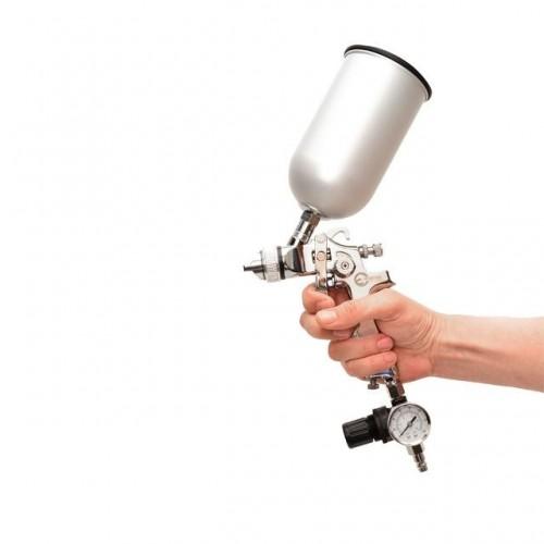 HVLP STEEL PROF KITКраскораспылитель 1,7 мм в комплекте с дополнительной форсункой 1,4 мм INTERTOOL PT-1505, PT-1505, Краскопульты пневматические HVLP