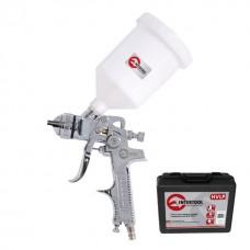HVLP STEEL PROF Краскораспылитель 1,4 мм, верхний пластиковый бачок 600 мл. в пластиковом чемодане INTERTOOL PT-1507