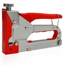 Механический скобозабивной пистолет под скобу 11,3 x 0,7 x 4-14 мм, обрезиненная рукоятка INTERTOOL RT-0102