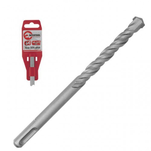 Бур SDS PLUS S4 28x1000мм INTERTOOL SD-28100, SD-28100, Буры SDS-Plus для перфораторов