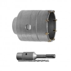 Комплект: сверло корончатое по бетону 40 мм+Переходник SDS Plus 100мм INTERTOOL SD-7040