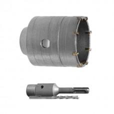 Комплект: сверло корончатое по бетону 80 мм+Переходник SDS Plus 100мм INTERTOOL SD-7080