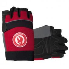 """Перчатка Microfiber без пальцев, вставки спандекса и неопрена, эластичный манжет на липучке, 9""""INTERTOOL SP-0142"""