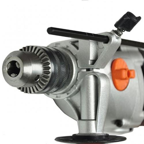 Дрель ударная STORM 1200Вт, 2 скорости, 0-1000/0-3000об/мин, 1.5-13мм, алюминиевый корпус редуктора INTERTOOL WT-0112, WT-0112, Дрели ударные