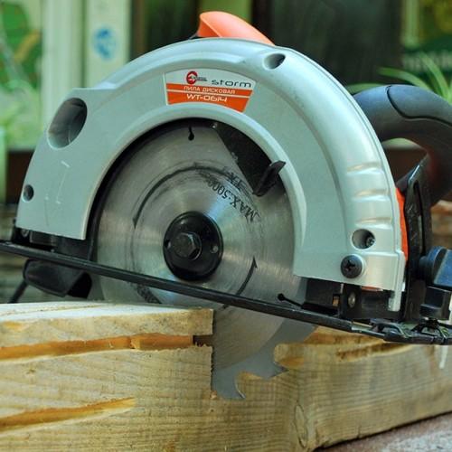 Пила дисковая STORM, 1200 Вт, 4600 об/мин, угол 90-45, глубина распила 63-38 мм, диск 20 ммx185 мм INTERTOOL WT-0614, WT-0614, Пилы дисковые