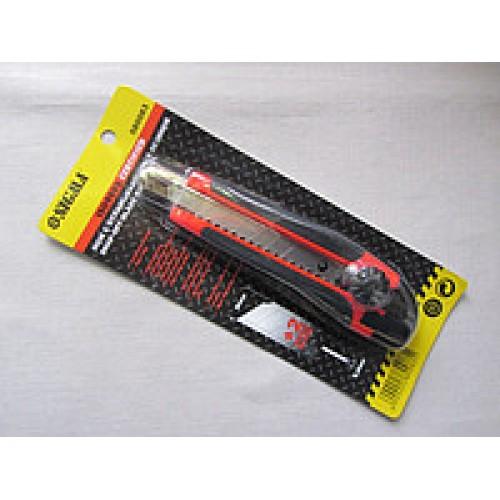 Нож канцелярский 18 мм с железной направляющей, Нож канцелярский 18 мм с железной направляющей, Ножи канцелярские, лезвия к ножам