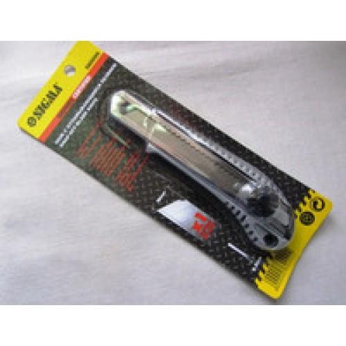 Нож канцелярский 18 мм с железной направляющей, Нож канцелярский 18 мм с железной направляющей,