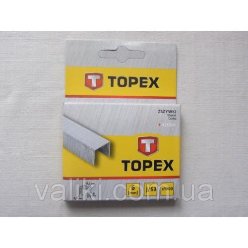 Скоба для степлера | 6 мм Topex, Скоба для степлера | 6 мм Topex, Степлеры и скобы