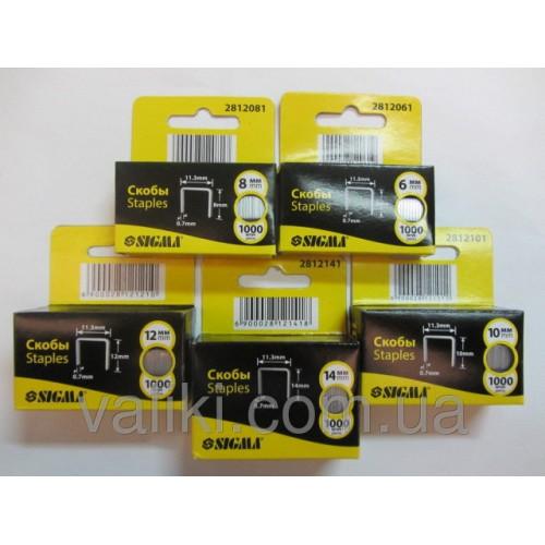 Скоба для степлера | 14 мм Sigma, Скоба для степлера | 14 мм Sigma, Степлеры и скобы