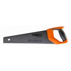 Ножовка по дереву с тефлоновым покрытием зубьев PTFE 450 мм 7TPI NEO-TOOLS