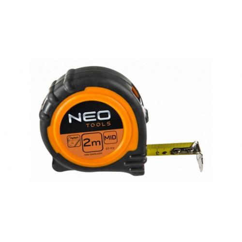 Рулетка NEO-TOOLS стальная лента 3 м x 19 мм магнит