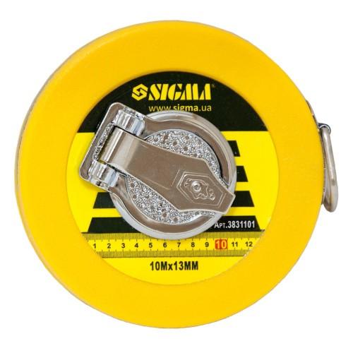 Рулетка стекловолокно 10м*13мм Sigma (3831101), 3831101, Рулетки
