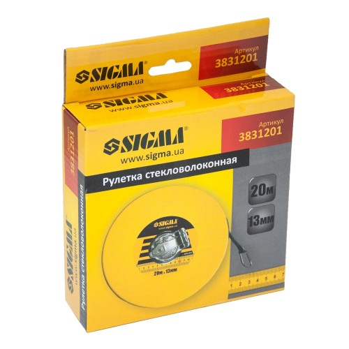 Рулетка стекловолокно 20м*13мм Sigma (3831201), 3831201, Рулетки