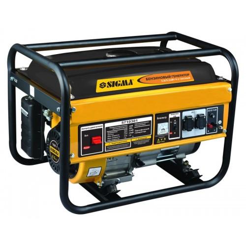 генератор бензиновый 5.0/5.5кВт 4-х тактный ручной запуск, 5710301, Бензиновые